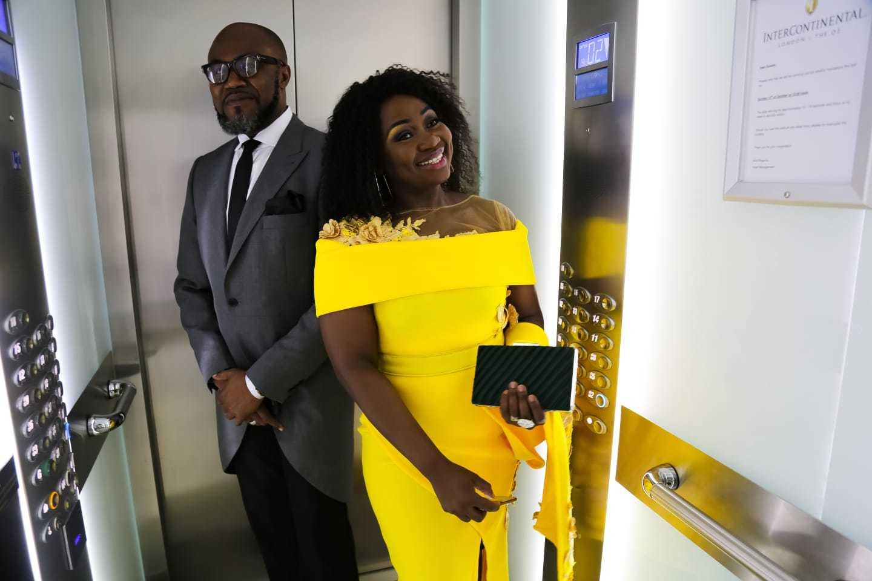 Margo's Mode Yellow Ladies Fashion Dress