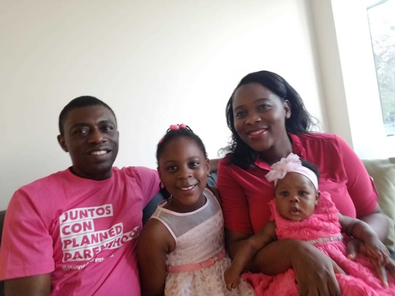 Family in Pink for breast cancer
