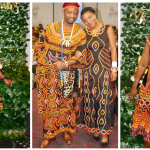 Toghu Print Outfit Ideas From Emelda & Serge's #Wakanda Theme Pushparty