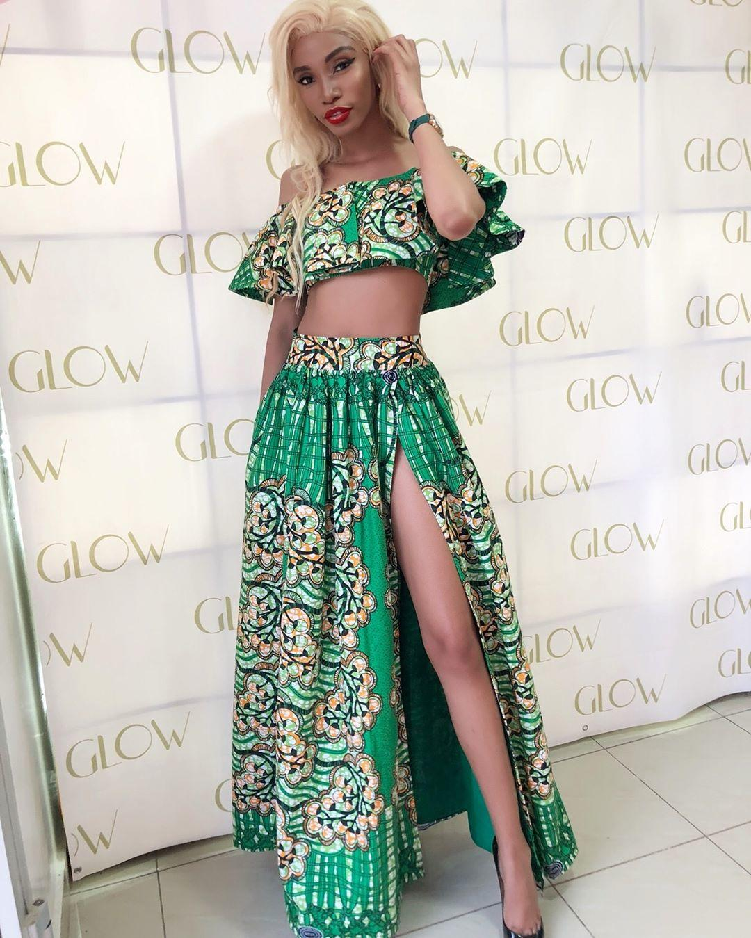 Valarie Ayena Rocks Classic Long Ankara Skirt