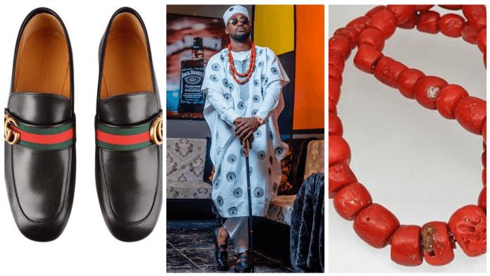 Amah Bertrand latest Agbada style