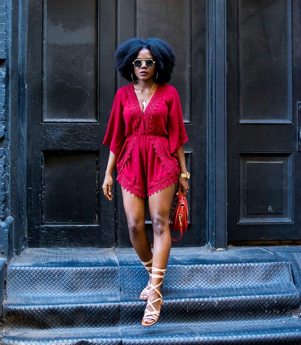 Styling red romper