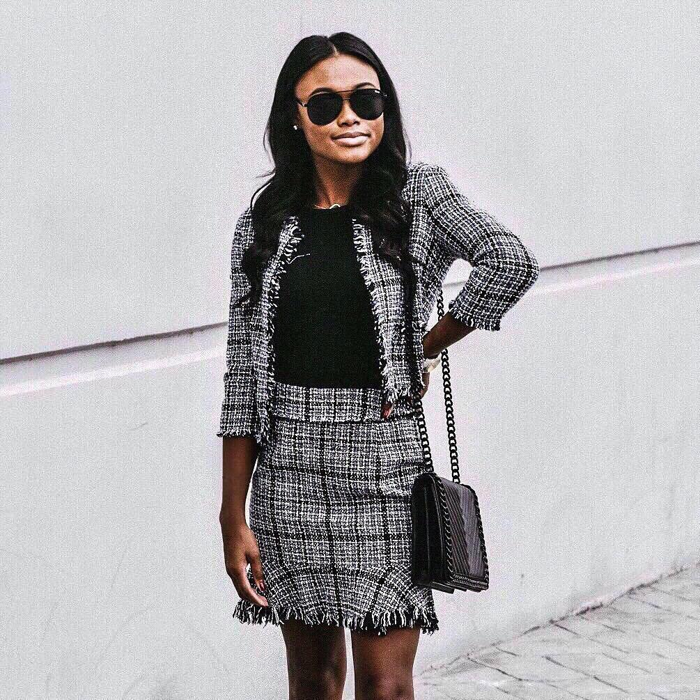 How to wear winters belted tweed skirt, and ways to style tweed garments