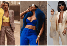 Beautiful Faux Fur Accessories Seen On Sai Sankoh