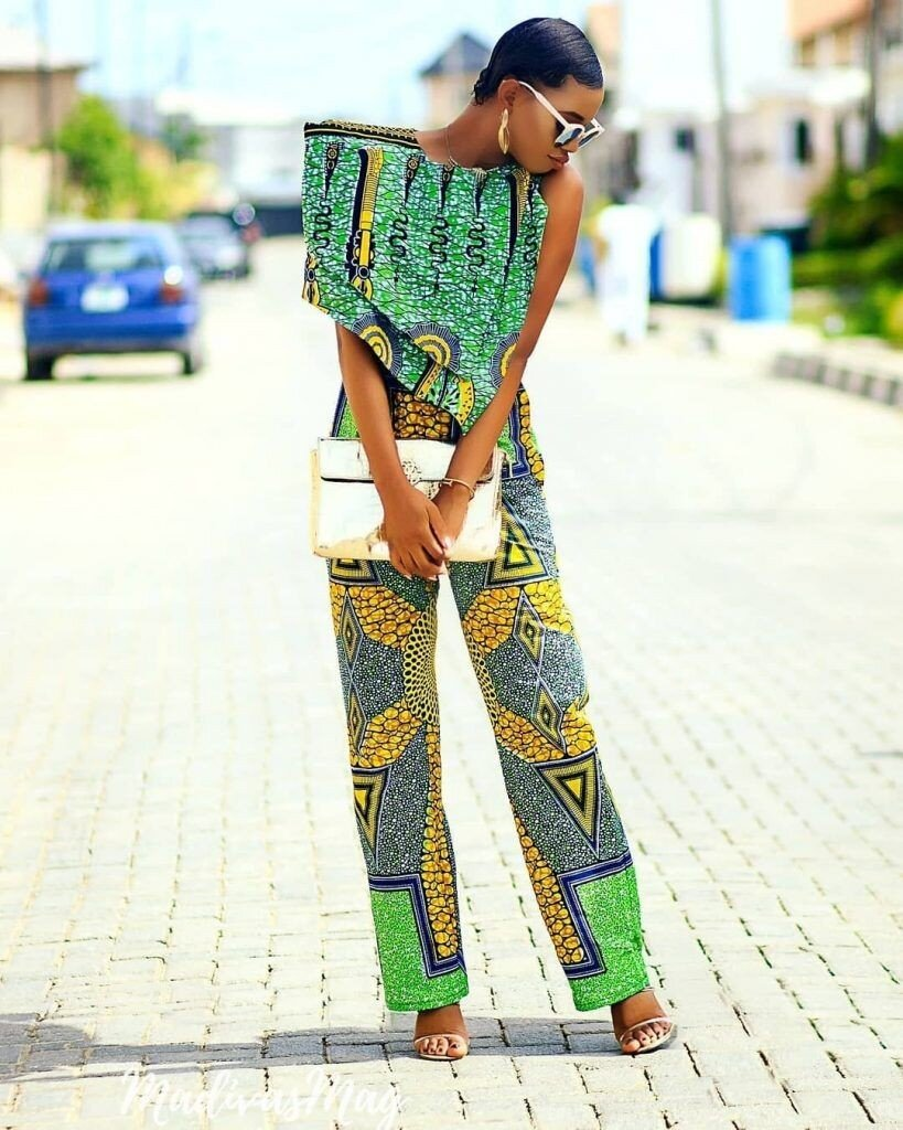Off shoulder Ankara Jumpsuit