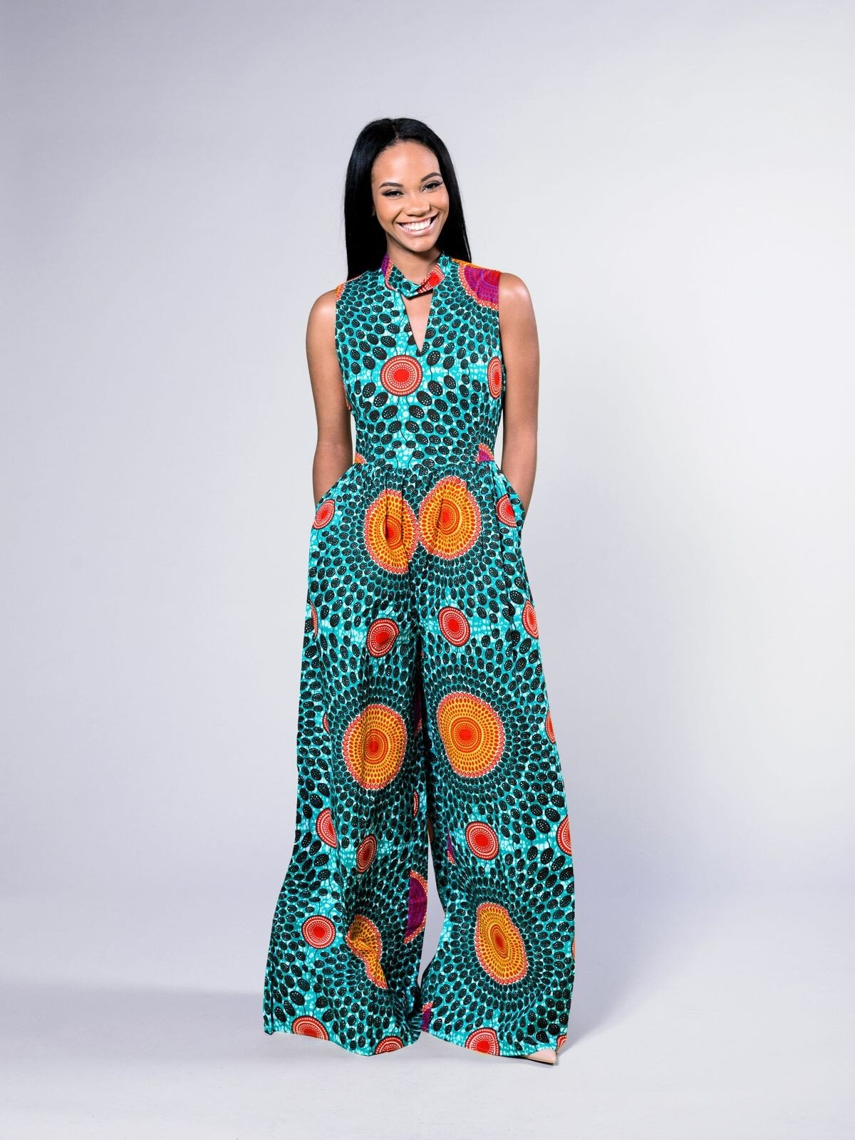 Ankara Flared Pant Jumpsuit