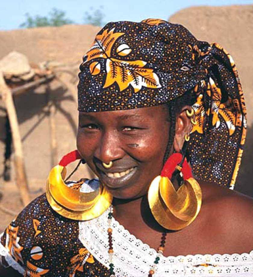 Fulani Gold Earrings