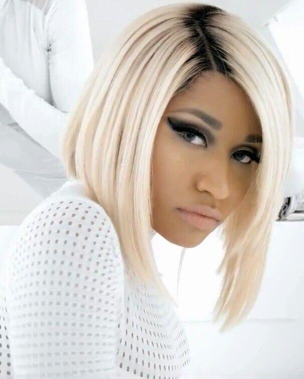 Platinum Blonde Hair with Dark Roots