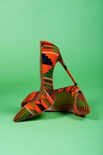 Kente Print Pumps For Women