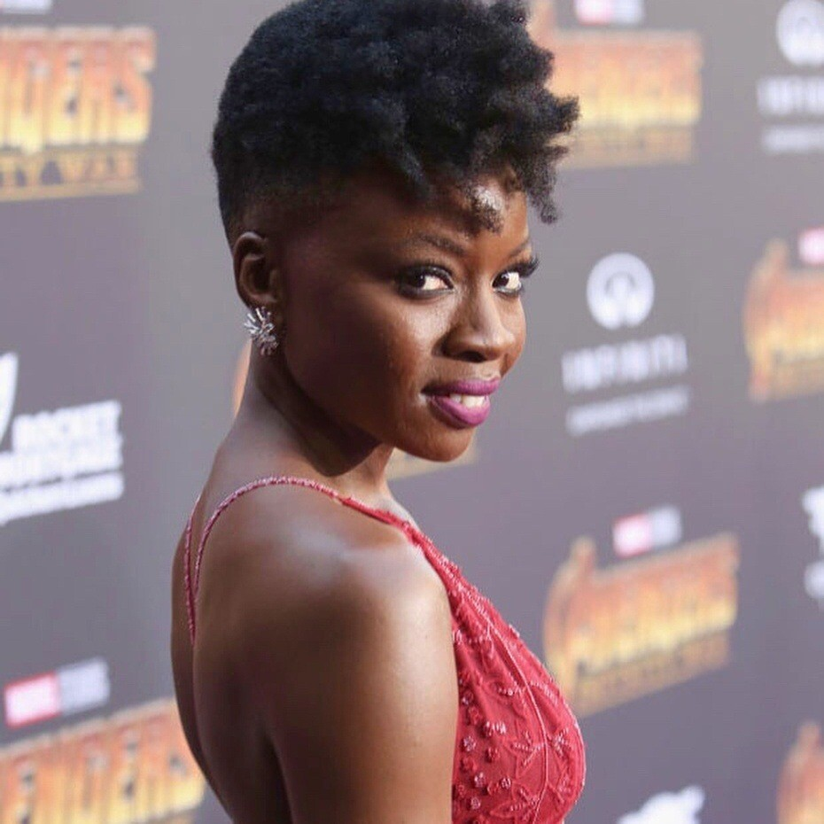 Danai Gurira Chic Hairstyles and bald looks