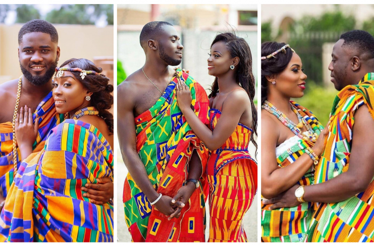 Latest Ghanaian Kente Bridal Styles
