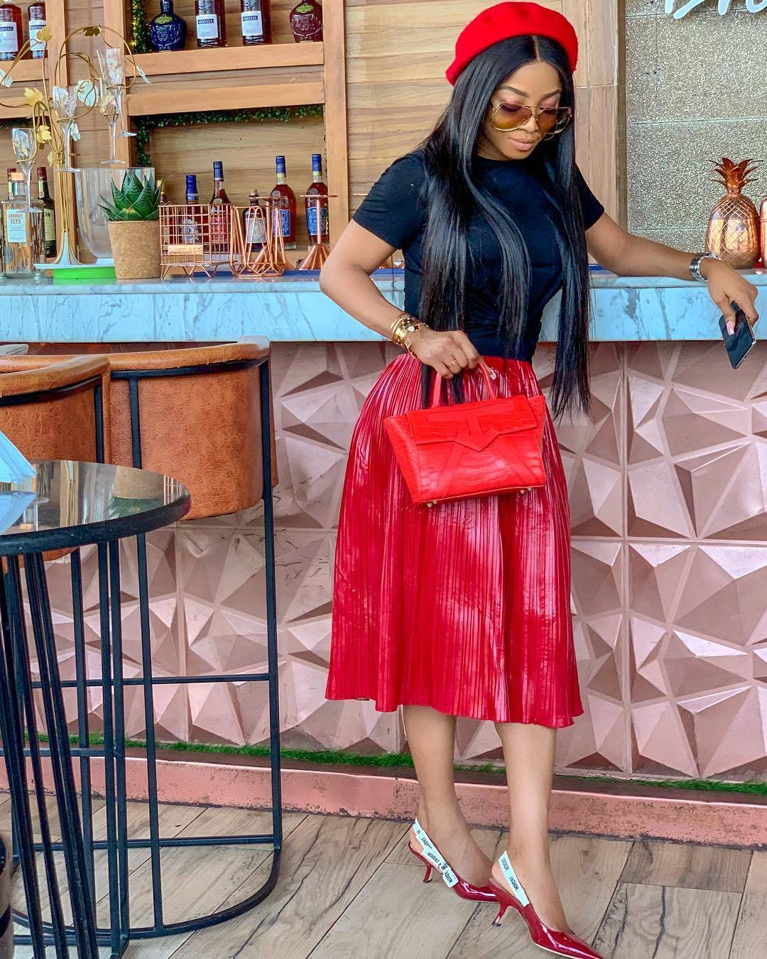 Red beret and bag