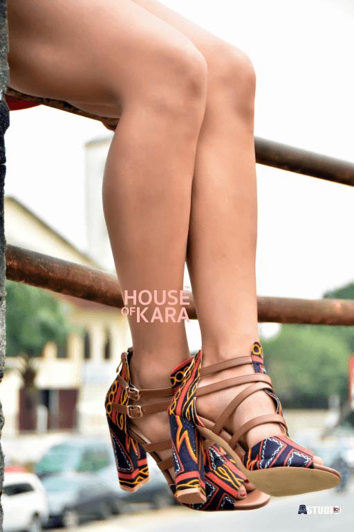 Lila-Toghu print strappy sandals
