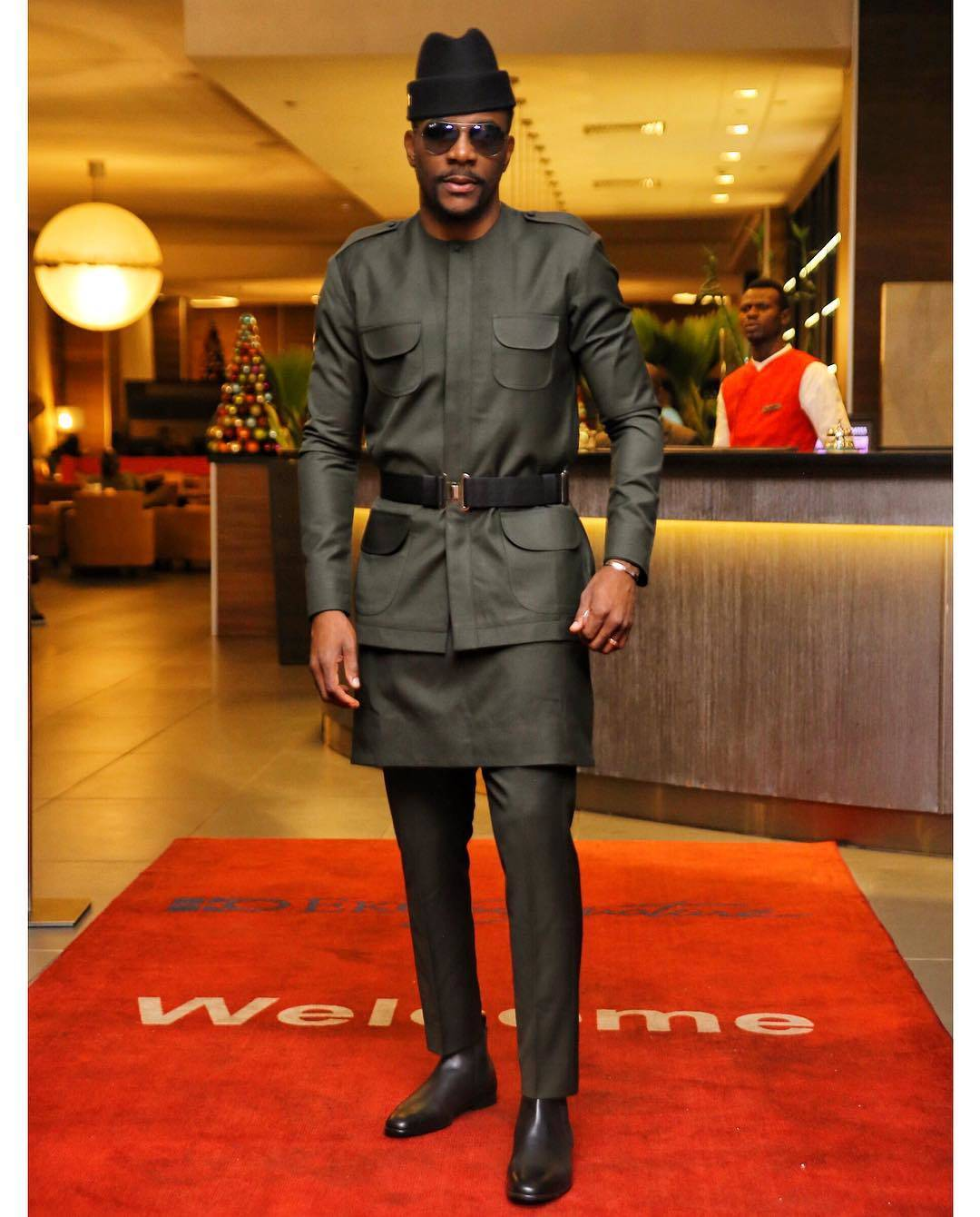 Ebuka spotted in MAI ATAFO SS19 urban Jungle collections at the Sound City MVP.