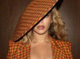 Beyoncé Ankara Suit and Hat