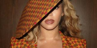 Beyoncé Ankara Suit and Hat