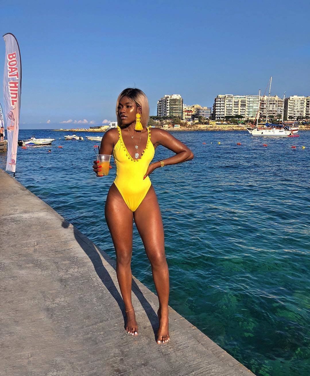 Marii Pazz Yellow Summer Swimsuit