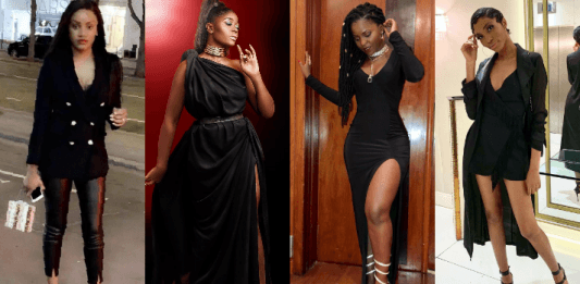 Cameroonian Female Celebrities Black-on-Black Outfits