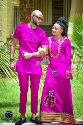 Toghu Print Outfit For Couples