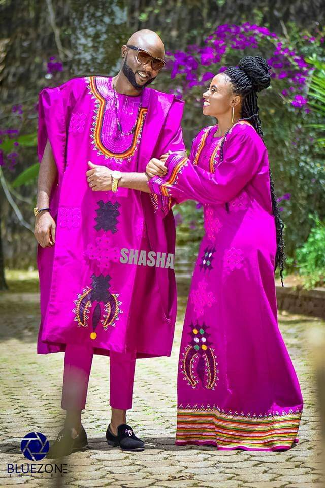 Bamenda Toghu Print Traditional Wedding Outfits