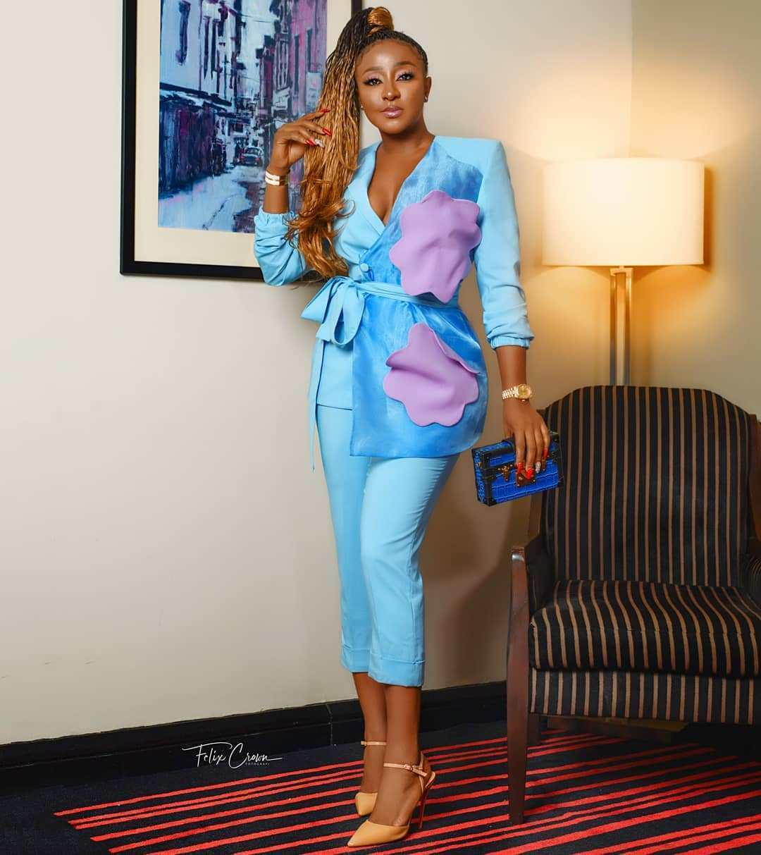 Ini-Edo-Wedding-Blue Wedding Guest-Look