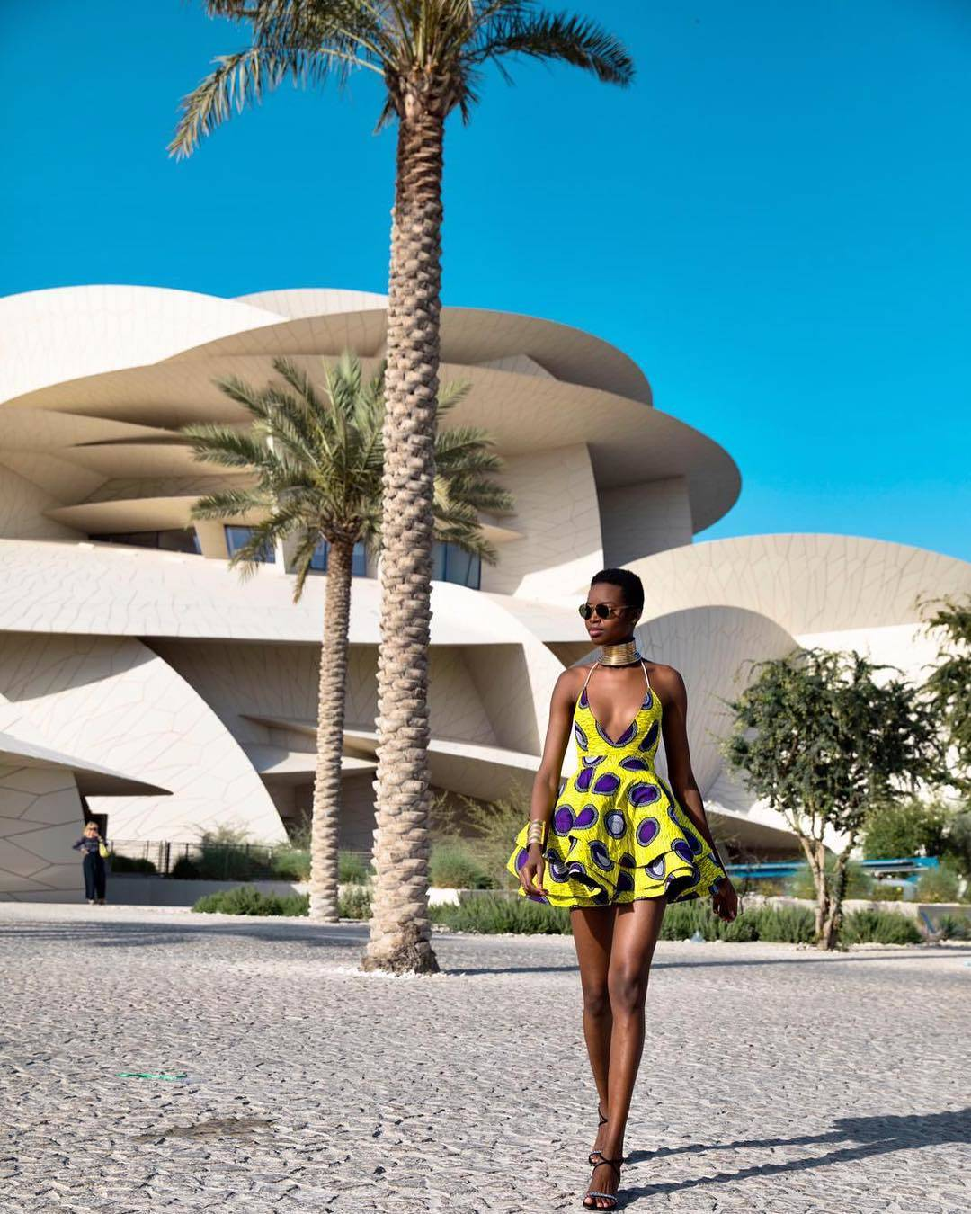 Angolan Model Maria Borges in Lavie By CK Ankara Print Summer Dress