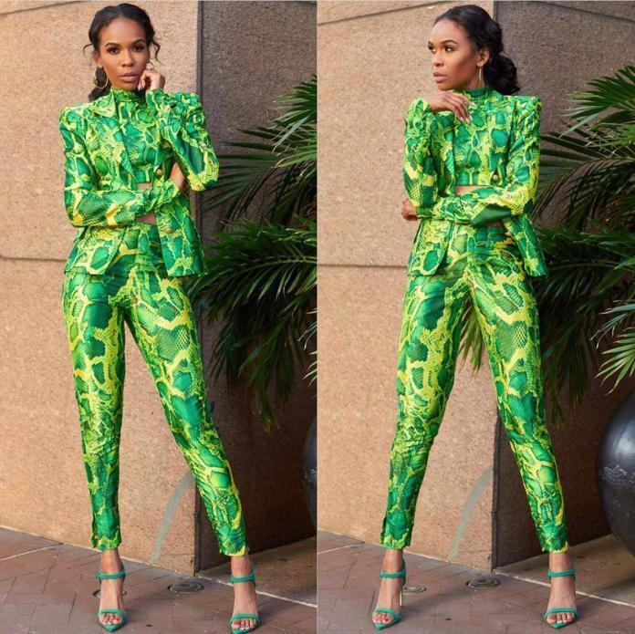 Sai Sankoh Resort 2019 Snake skin Pantsuit