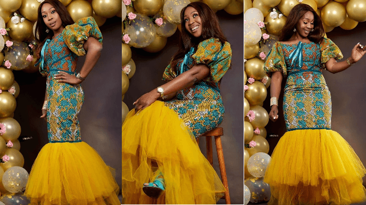 Chinelo Obi Nwogu Celebrates 40th Birthday In Ankara Lace Dress Mftv