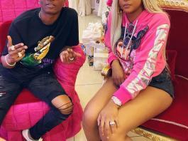 Brenda Biya and WIzkid
