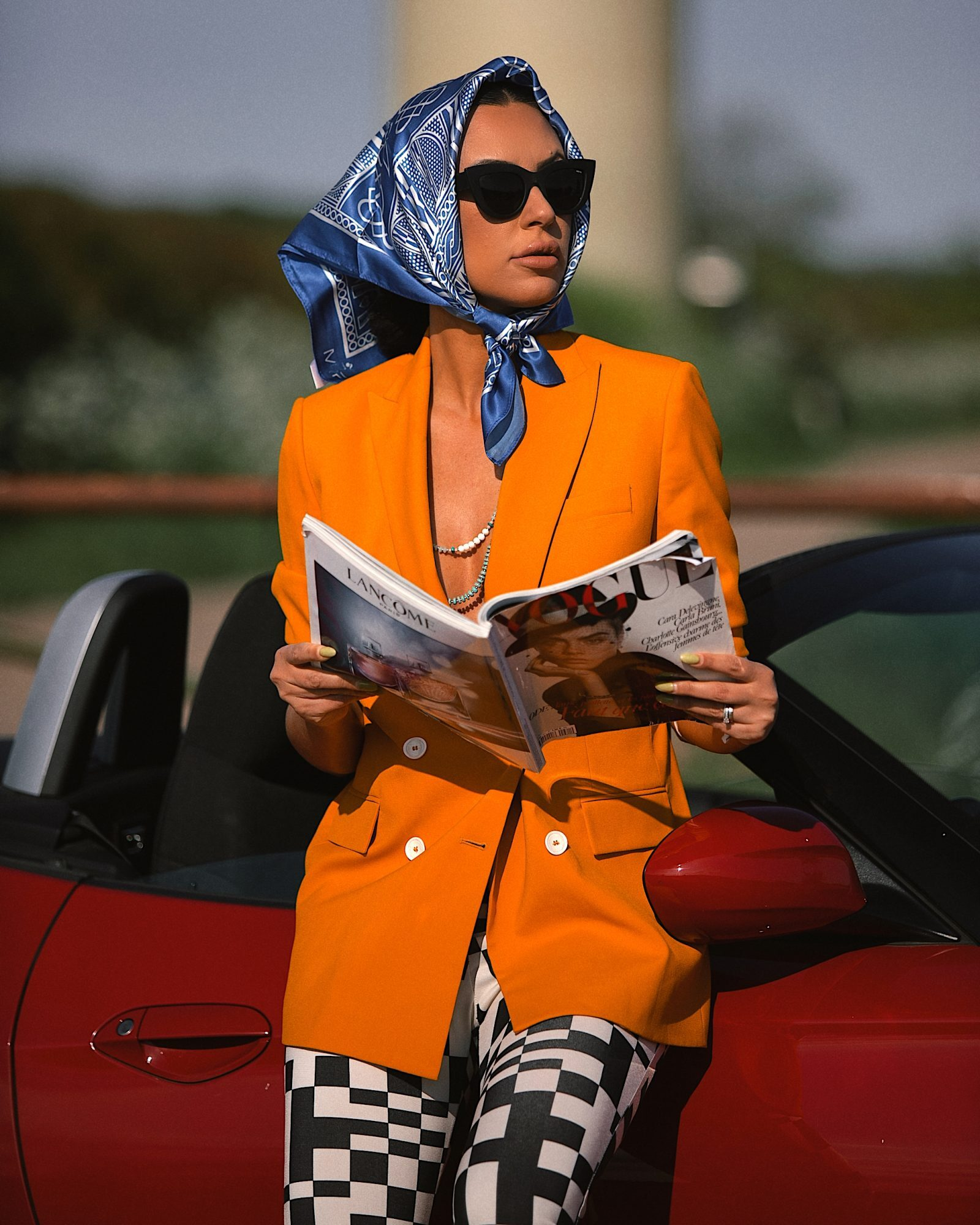 Eliane Fernandes in Silk Scarf